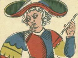 Détail du bateleur de la réédition du Nicolas conver pour son bicentenaire en 1960